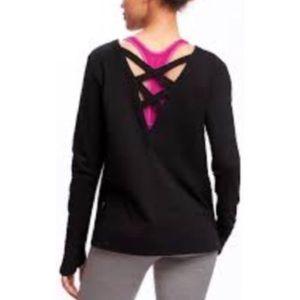 Hold for @hayleygough: Black cross back sweatshirt
